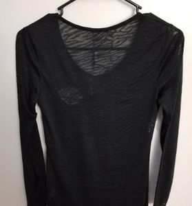 Hostility Tops - Hostility Black V Neck Long Sleeve Top